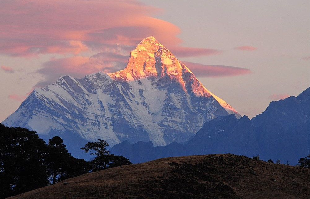 Nanda Devi at dusk.