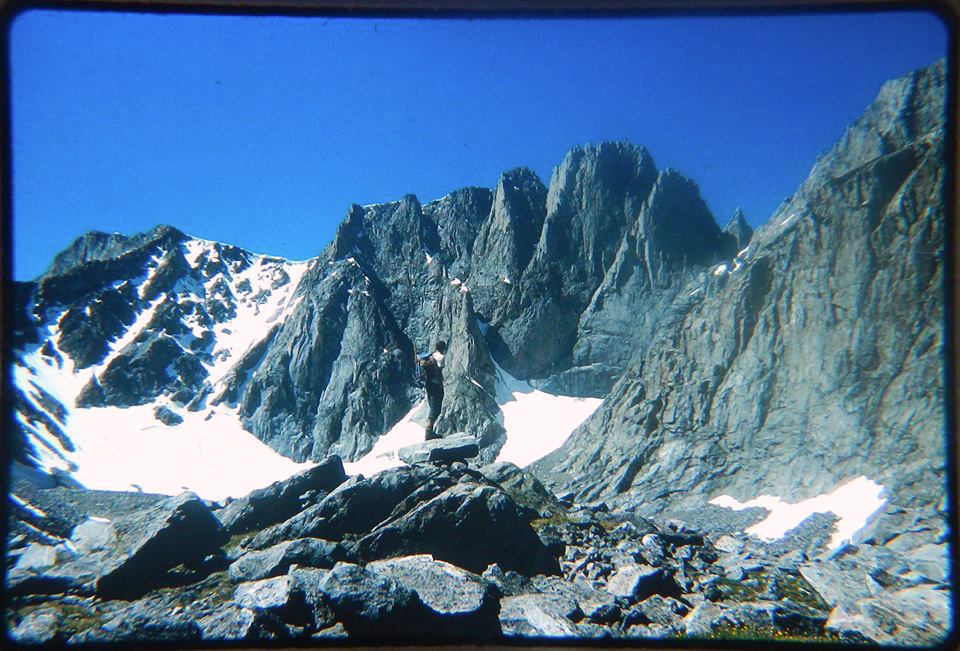 Roger Johnson en route to Innominate, July 1967, before the first ascent of the northeast face.
