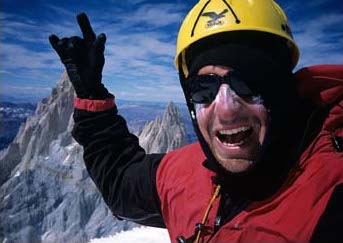 Dean on the summit of Fitz Roy.