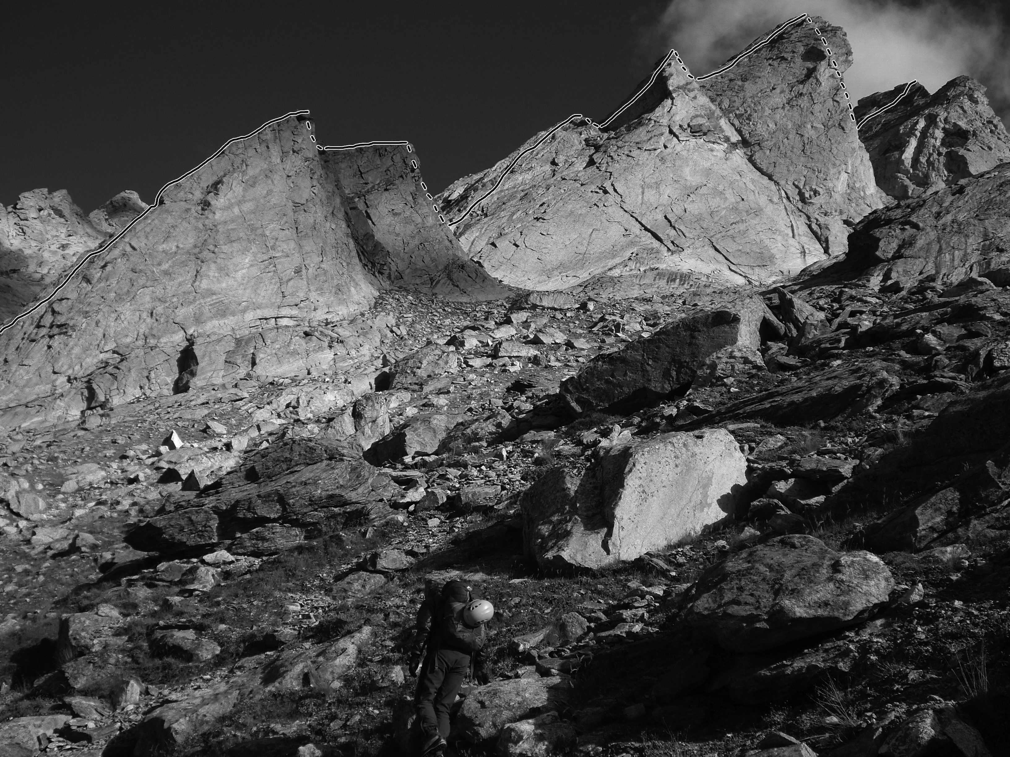 Trident Ridge (500m vertical, 1,000m long) on a virgin peak they called Premsingh Peak (ca 5,200m). Andrej Grmovsek