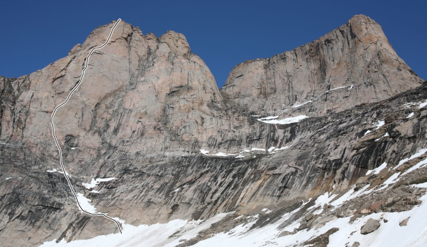 The South Face route on Asgard's South Tower.