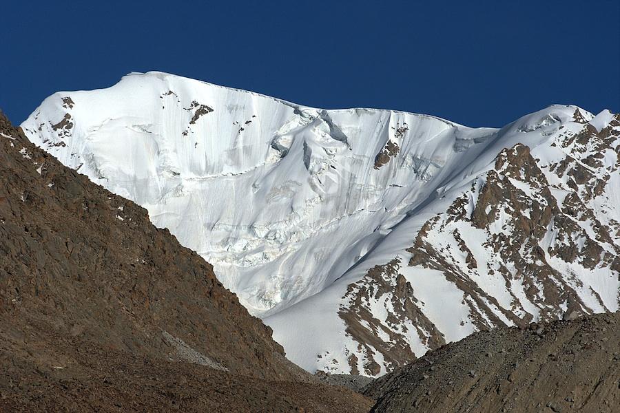 Looking southeast toward Peak 5,711m at the western end of Kohe Aq Su.