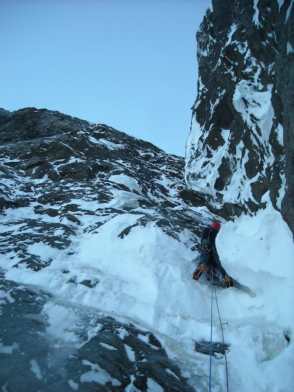 Kevin Ditzler on the near-miss new route attempt on Benign Peak in December.