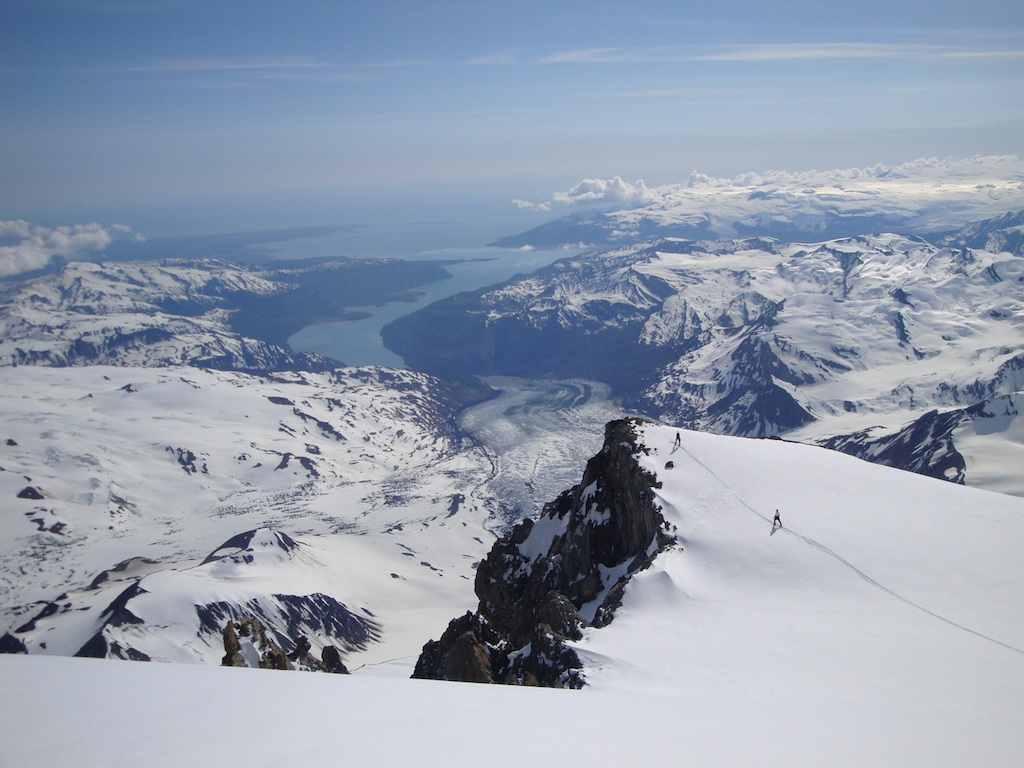 Overlooking Icy Bay from Mt. St. Elias.