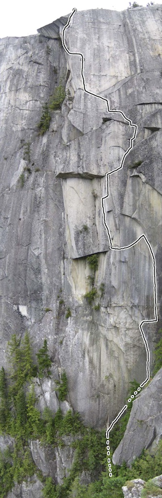 Gravity Bong, on the Squamish Chief.