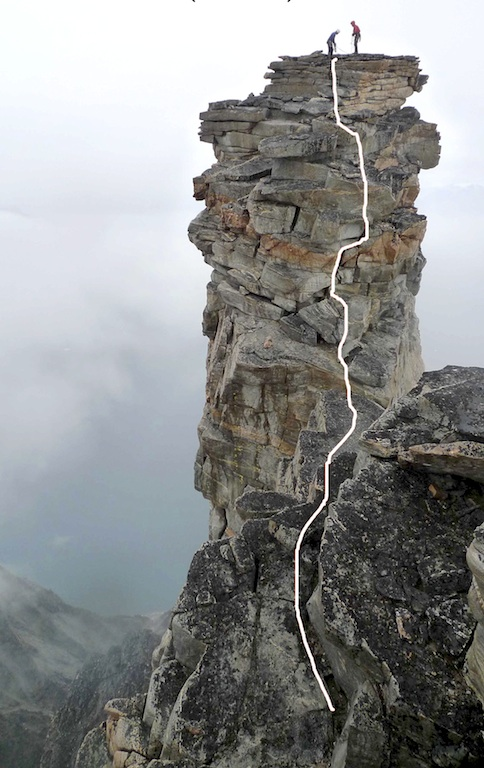 The final part of the ascent to the Old Man of Saatut.