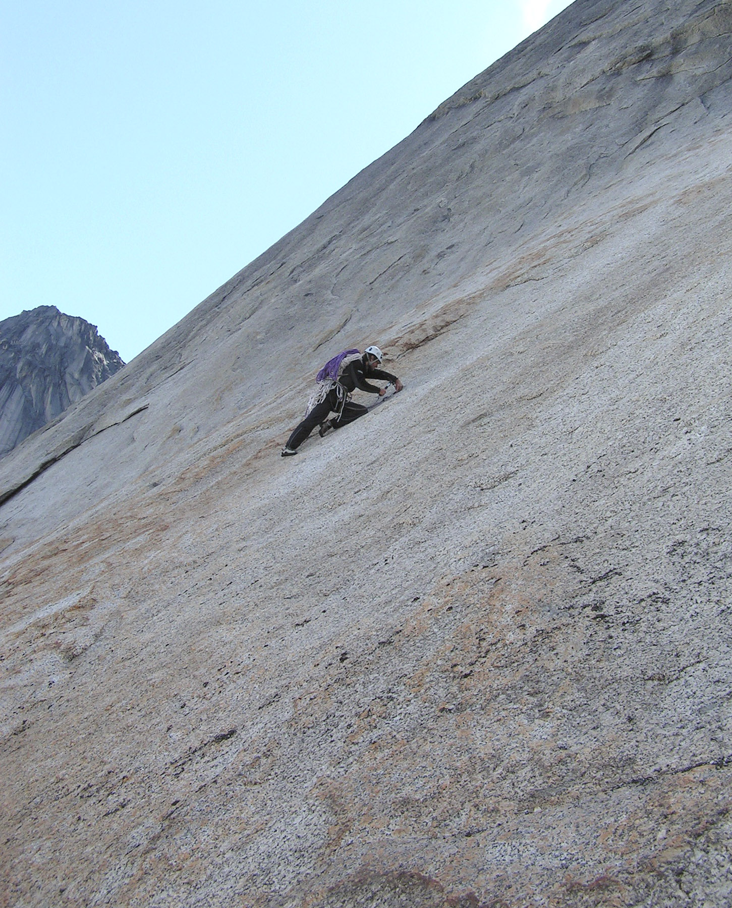 On the initial slabs of Half Dome.