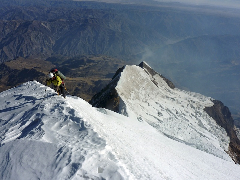 Florian Hill high on Illimani.