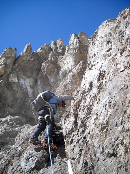 Ivan Rocamora leading on Cheto Alpino, Pico Polaco.