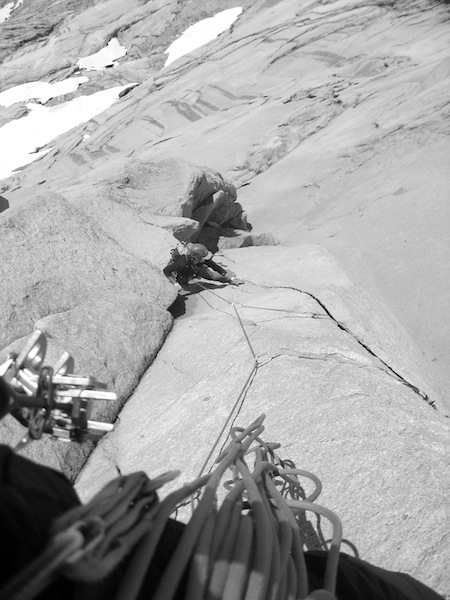Ryan Huetter following the first pitch of Under a Southern Star, Pirita Right.