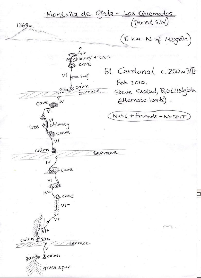 Cardonal Route topo.