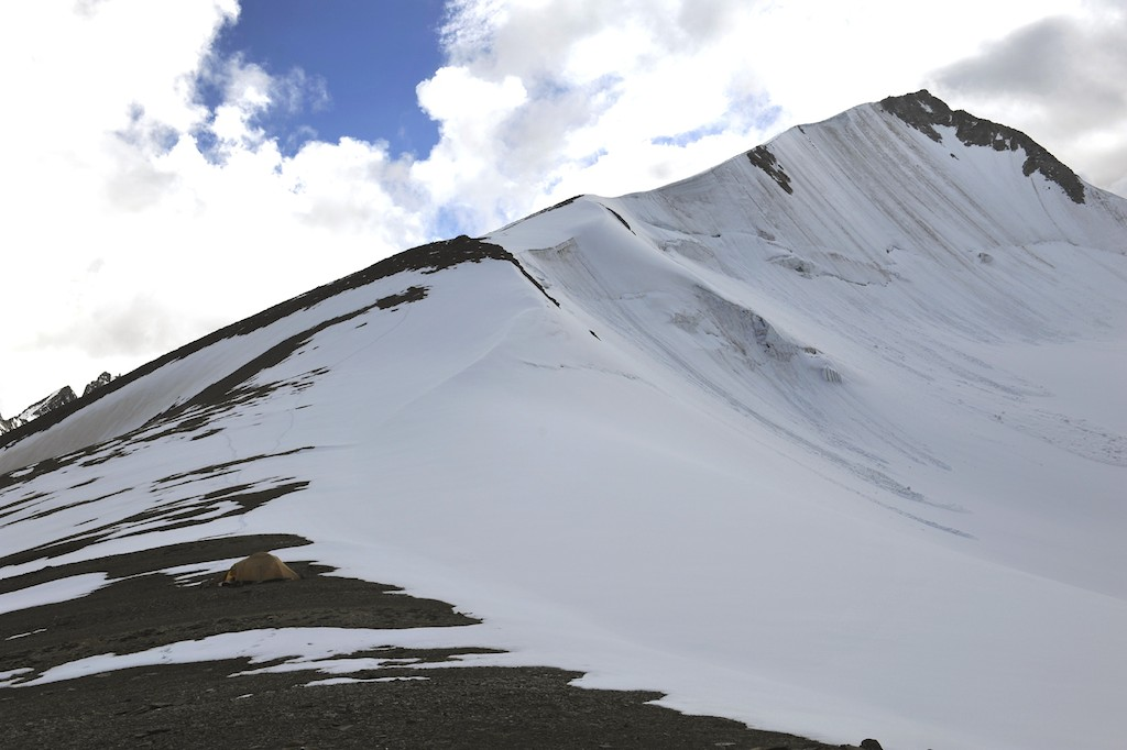East ridge of Dzo Jongo East from high camp at 5,800m. Divyesh Muni