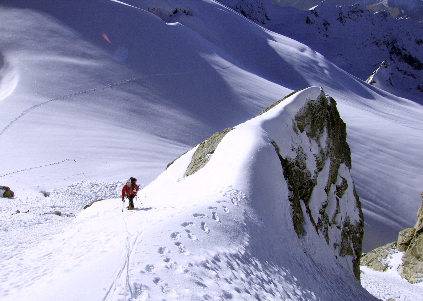 Mike Cocker on Snow Leopard Peak. Derek Buckle