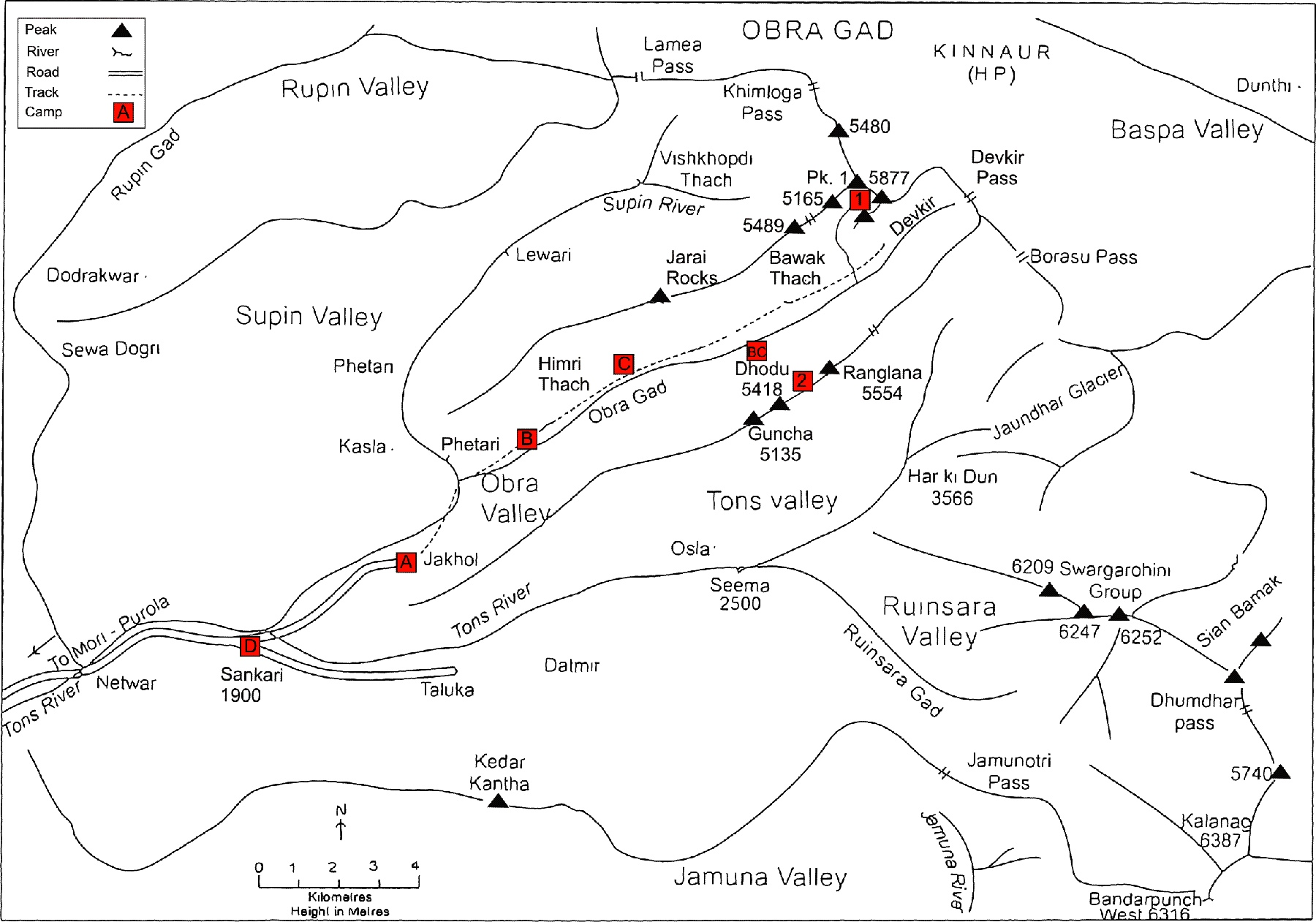 Obra Valley, reproduced with permission of Harish Kapadia and Gerry Wilson.