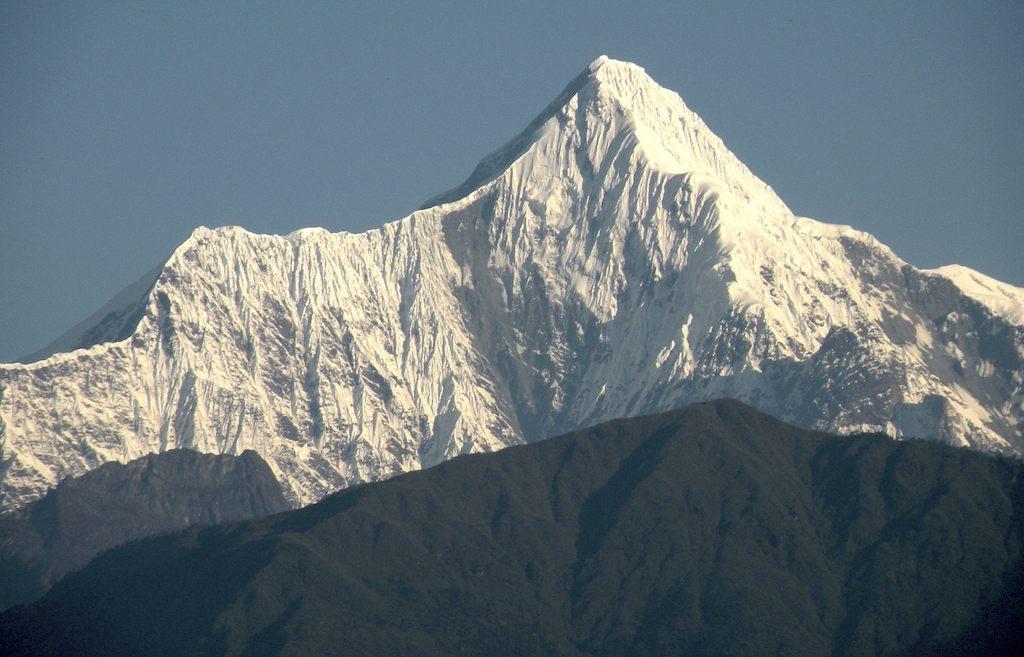 Farthest east in group is unclimbed Nyegi Kangsang. Harish Kapadia