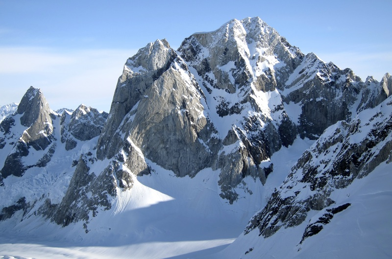 South face of unclimbed Peak 8,410'.