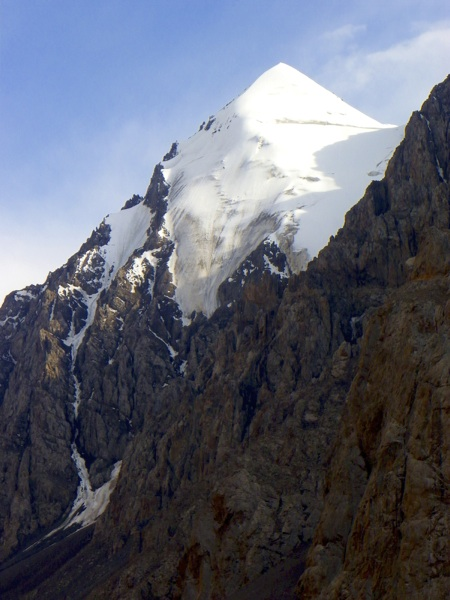 Unnamed and unclimbed peak on west side of Kaichi Valley.