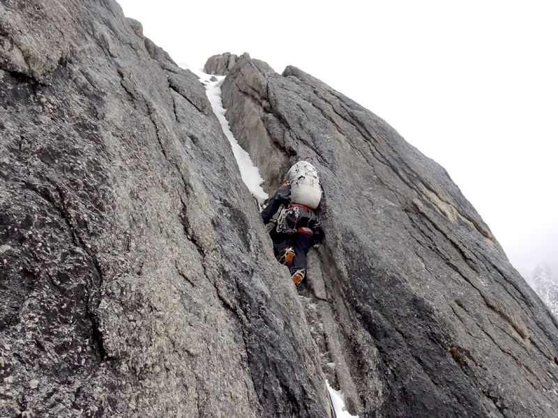 Hayden Kennedy on first ascent of Hassin Peak.