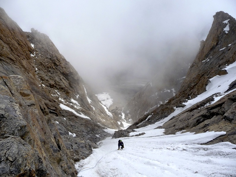High in east gully of Lama Jimsa Kangri. Robin Jones