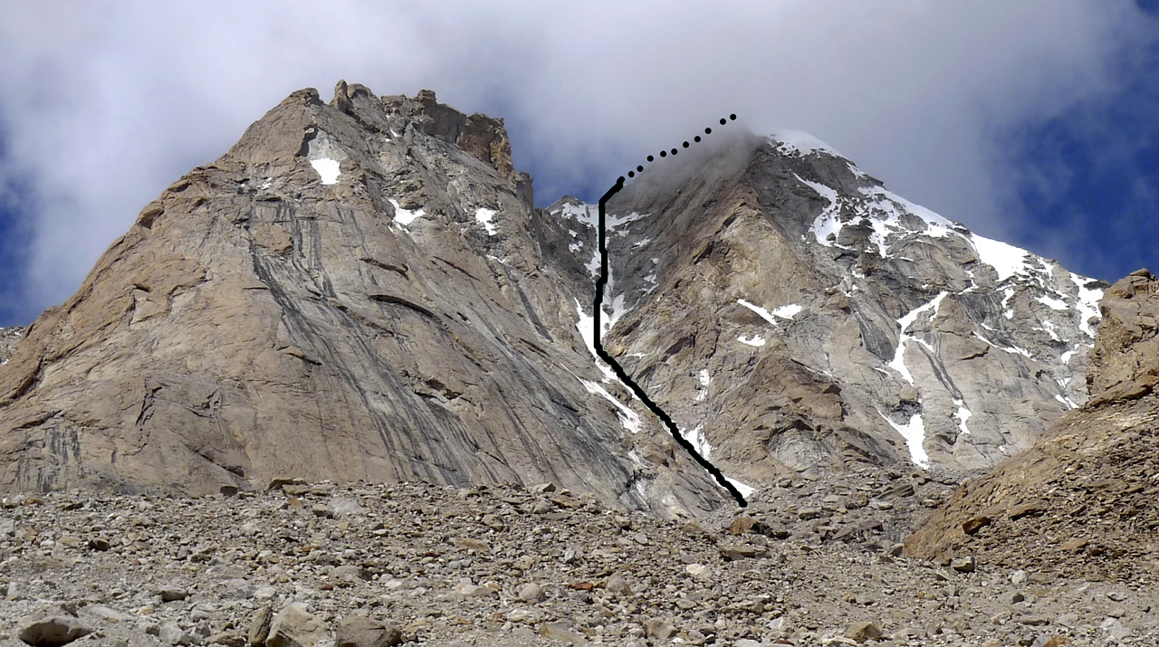 East gully of Lama Jimsa Kangri. Virgil Scott