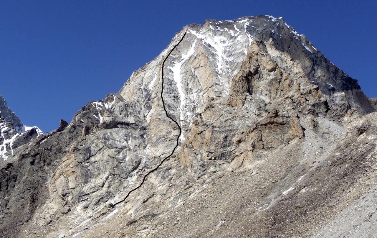 R4 from east, showing Prinold-Scott attempt. Virgil Scott