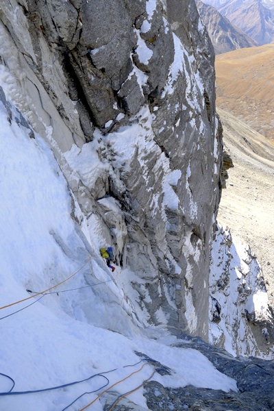 Dave Turnbull in lower couloir.