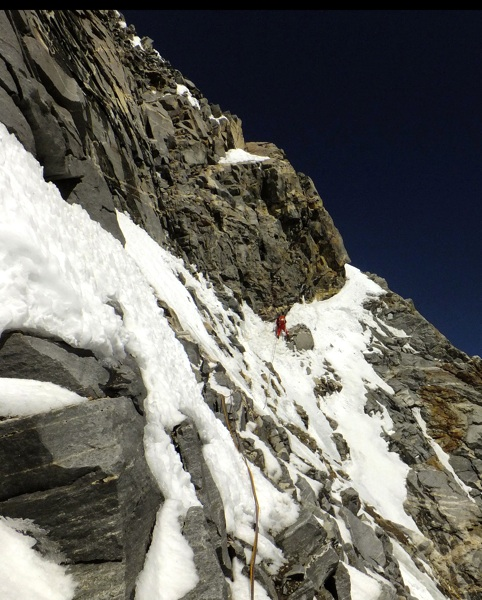 Hiraide during attempt on southeast face.