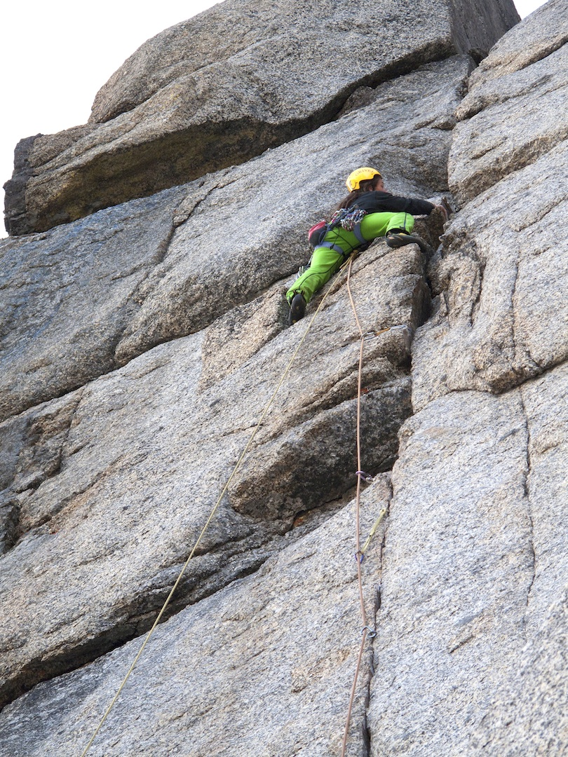 Tomas Brt on the crux eighth pitch of Turbo on Ketil.