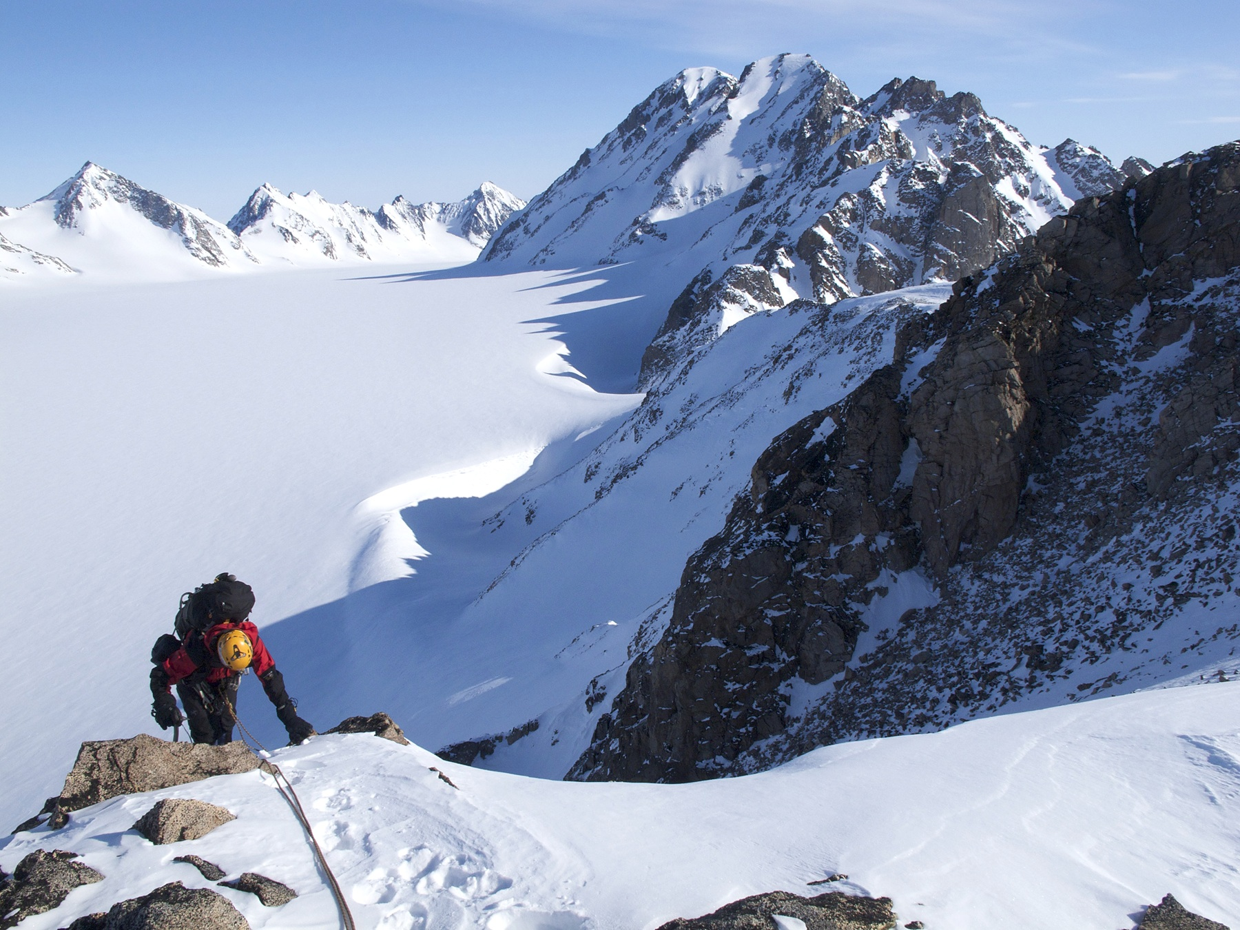 Approaching the summit of Castle Peak with Mt Mighty behind