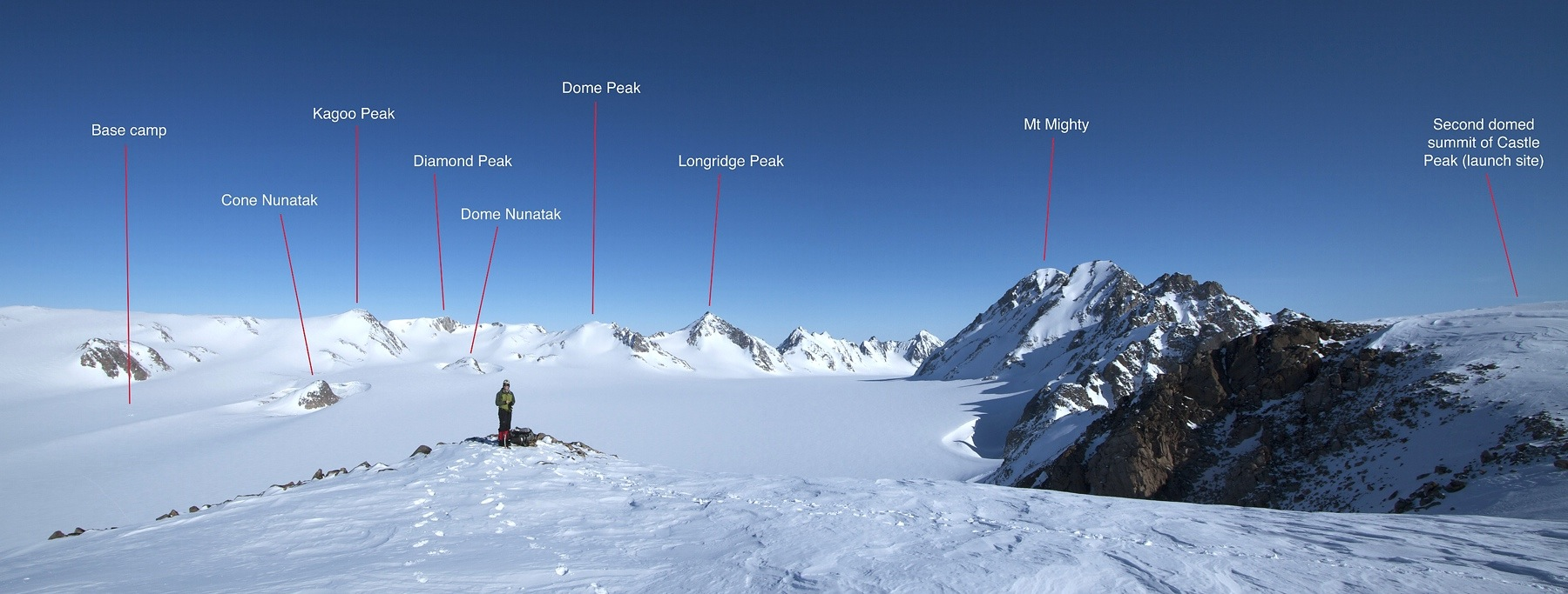 Panorama from the summit of Castle Peak.