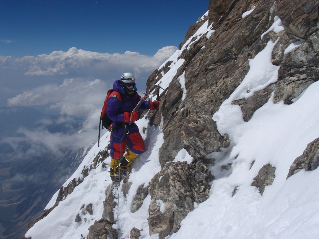 Rick Allen descending after the failed first attempt on the summit.