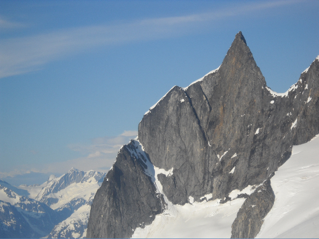 The unclimbed southwest face.