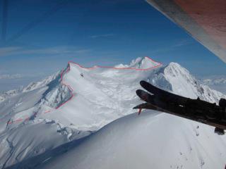 The new variation up Mt. Steller.