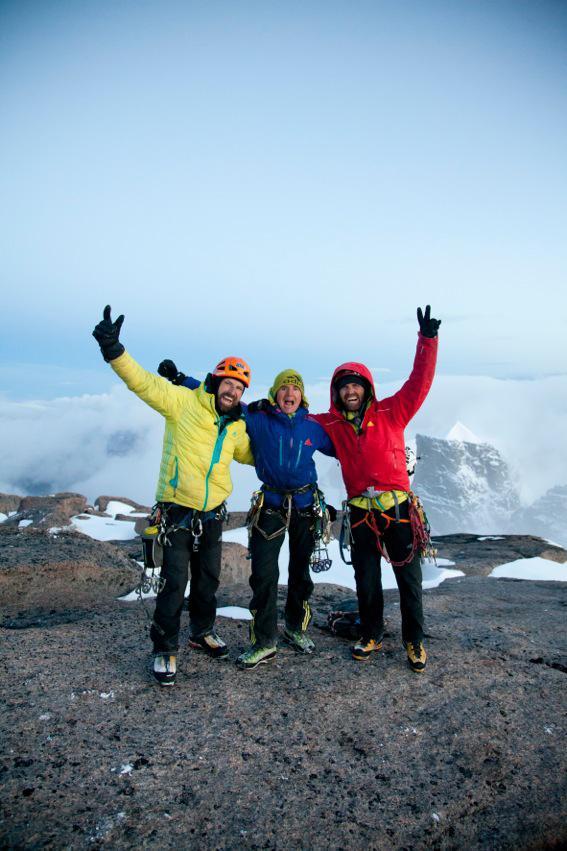 Alexander, Mario, and Thomas on the summit of Asgard.
