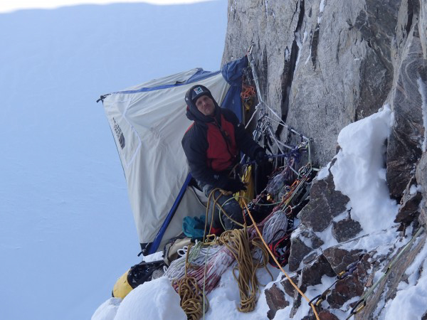 The duo climbed in extremely cold conditions.