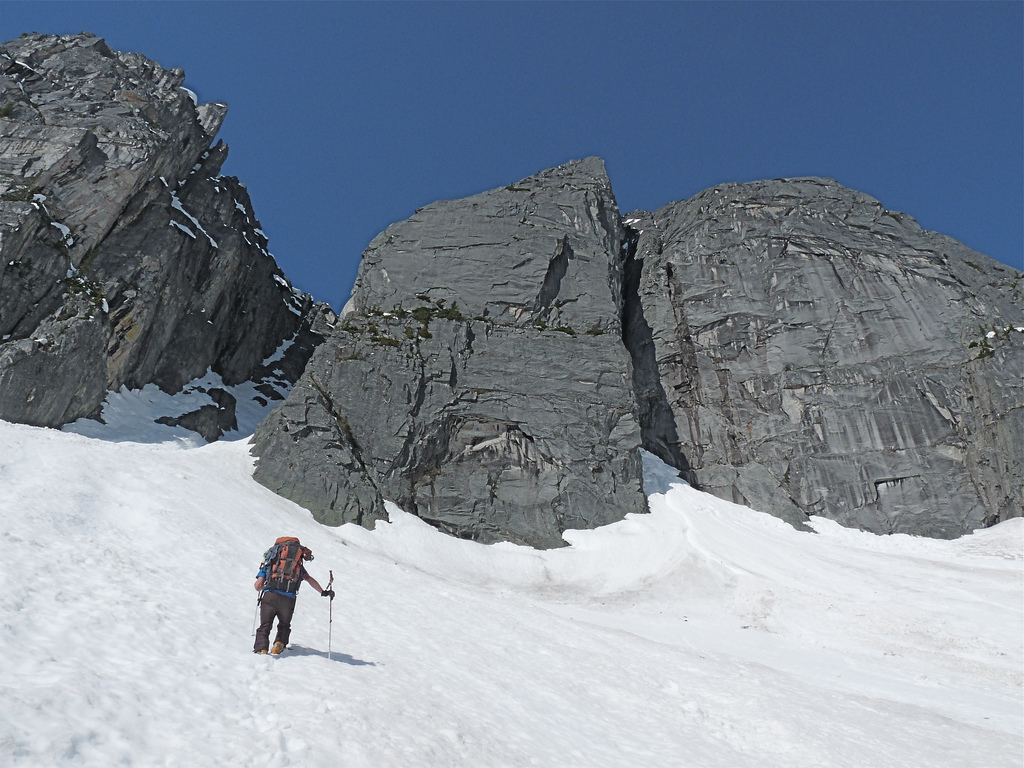 The main wall in the North Joffre Creek area.
