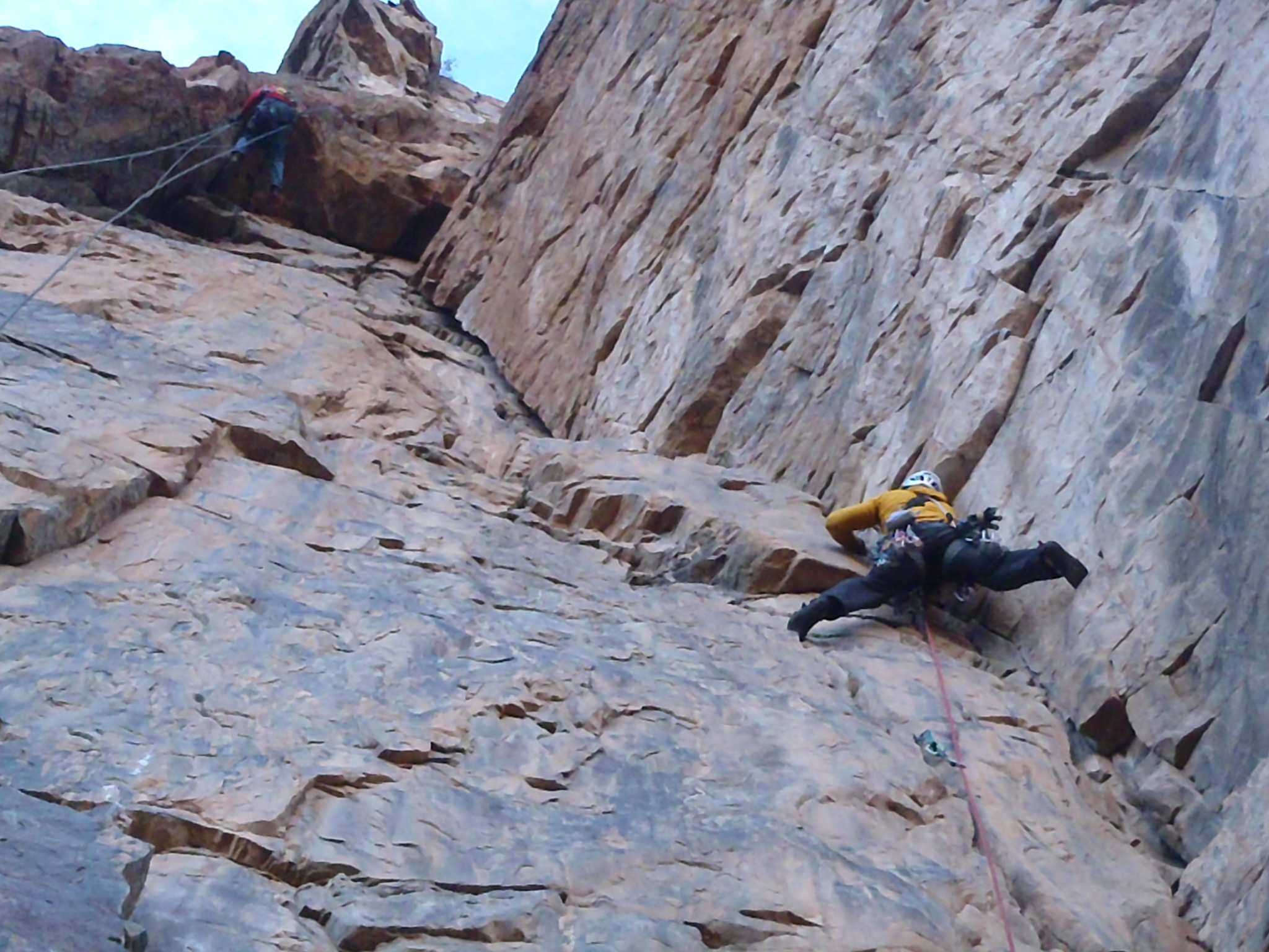 Chris Righter leading up great rock on the second to last pitch.