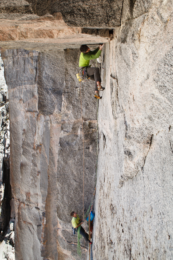 Reed underclinging Pitch 3 (5.11).