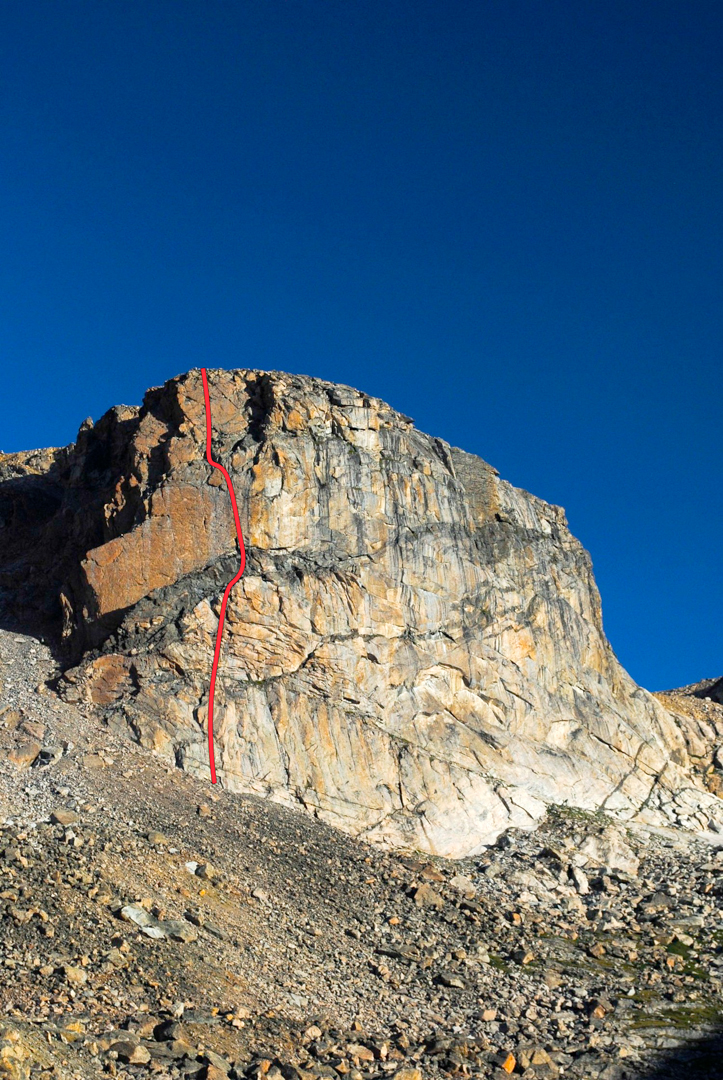 Classy Girls on the Hairpin Brow Buttress, Absaroka-Beartooth Wilderness Area. It's the first route known route on the wall, with plenty of potential remaining.