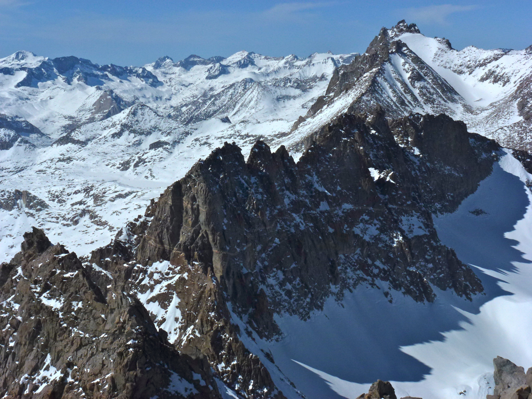 The Palisade Crest, the most challenging part of the traverse.