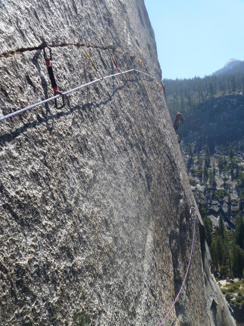 The Crack of God, a 100' horizontal splitter crack.
