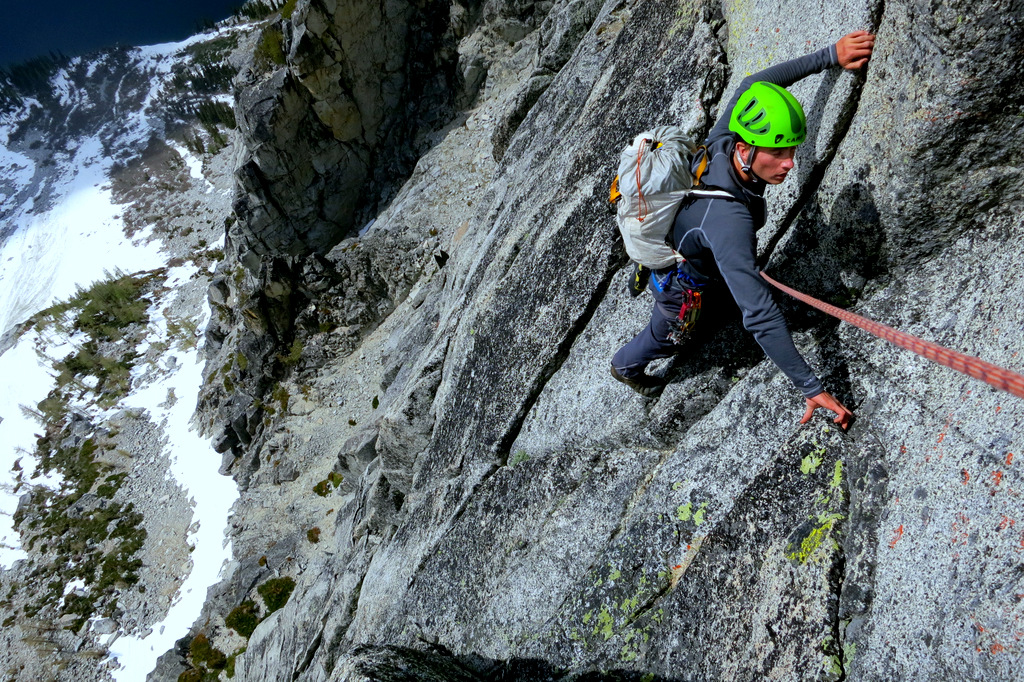 Blake Herrington following the third pitch of The Valkyrie.