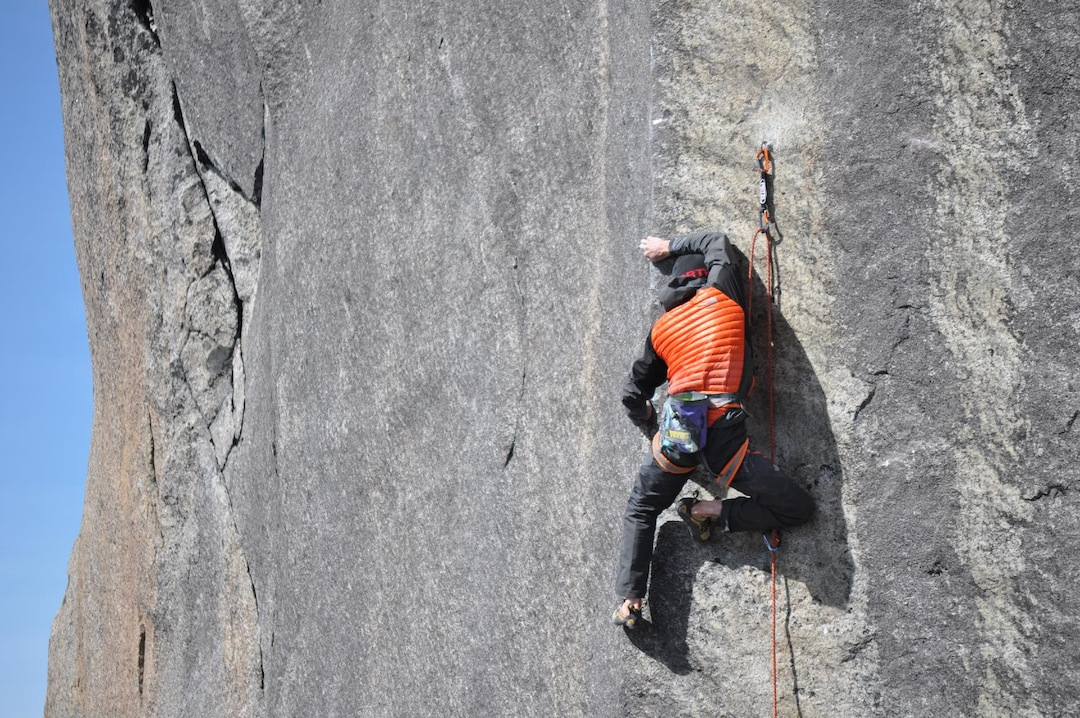 Daniel Woods climbs the extremely technical Enter the Void (5.14b) on Mt. Kinabalu.