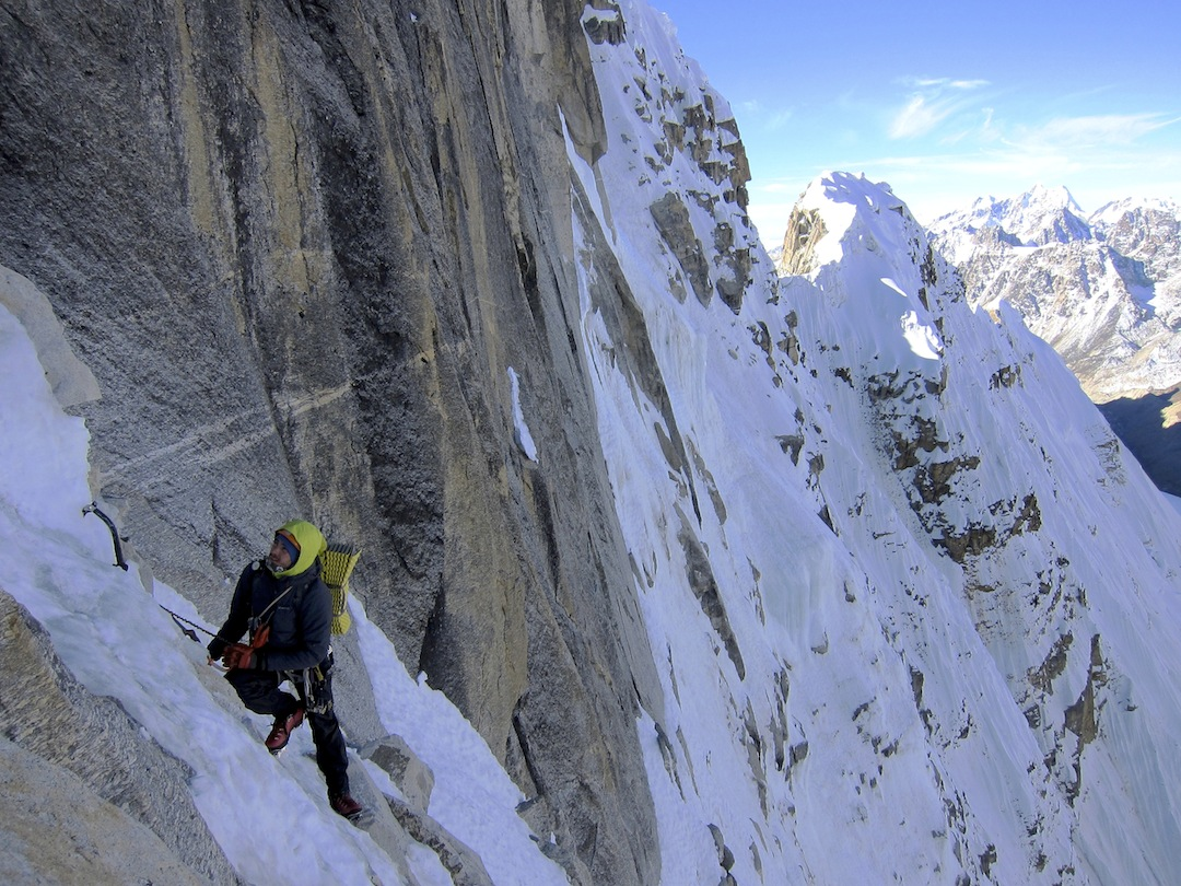 Nejc Marcic on the lower part of Janak's west face.