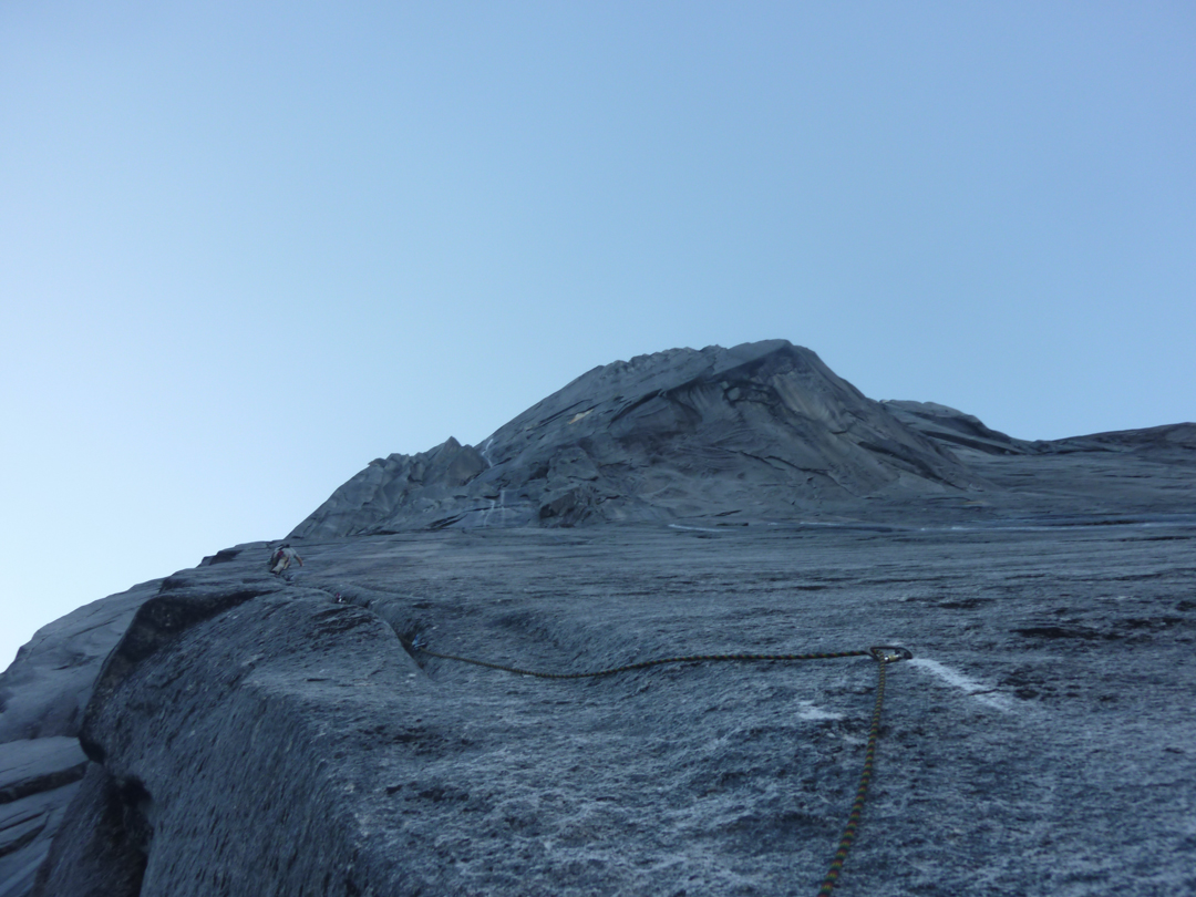 Leading up pitch 12. Sweeping granite continues for many more pitches to the summit.