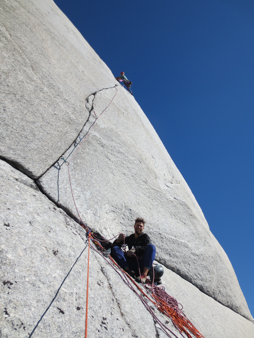 Varney sending the crux 5.12b tips crack of the Doppler Effect.