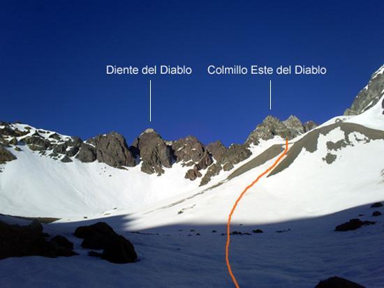 The Colmillos del Diablo towers.