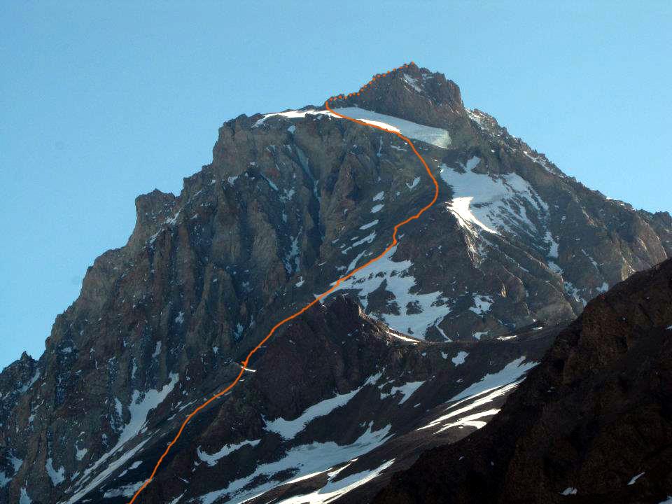 The route up Cerro Panamericano.