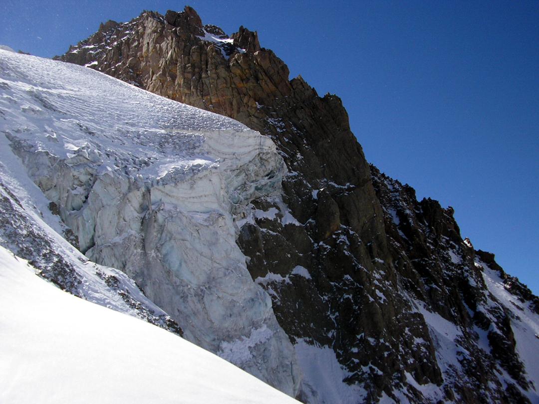 Hanging glacier on Cerro Panamericano.
