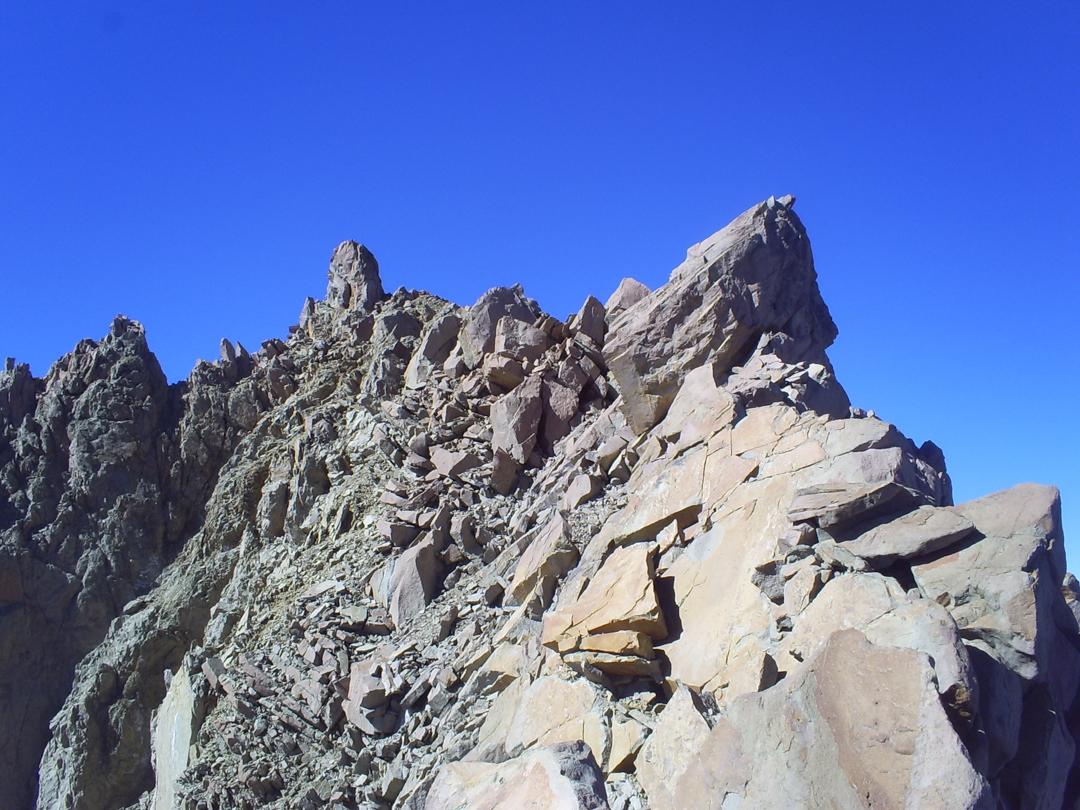 The broken upper ridge.
